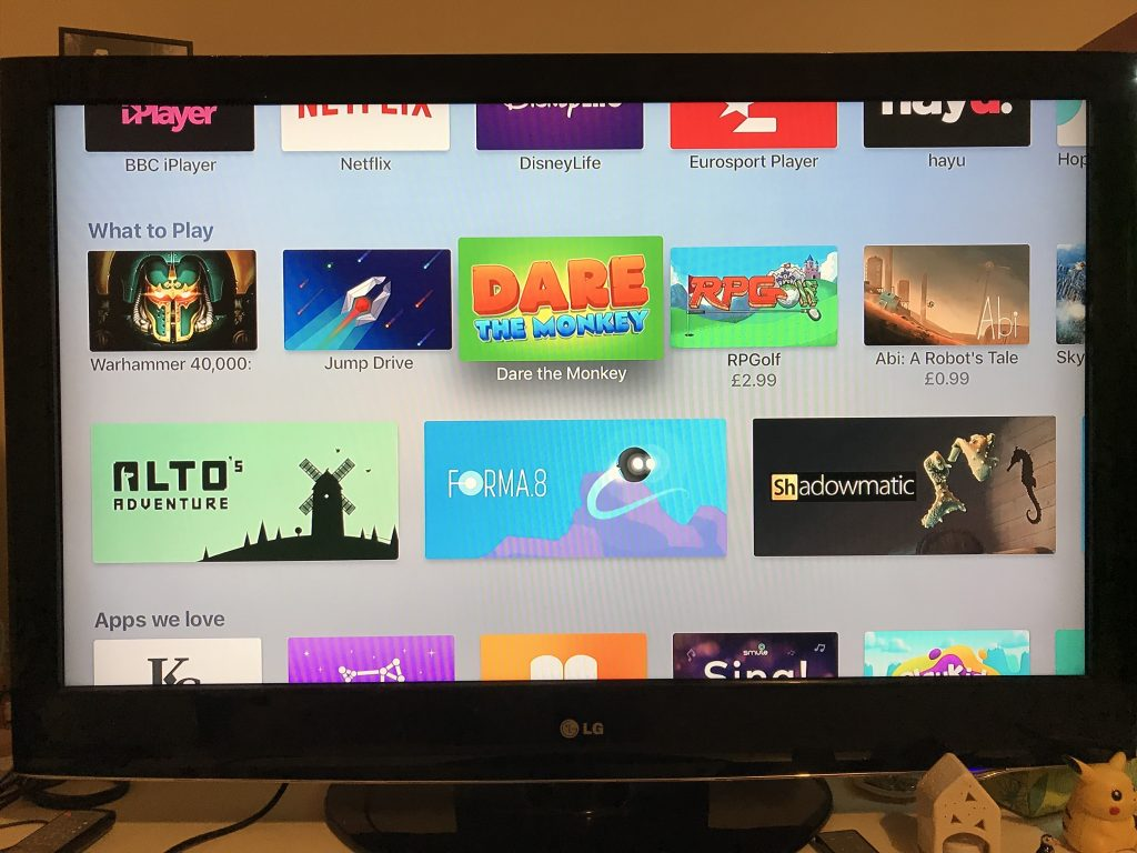 The AppleTV version has seen some love from Apple. Grateful.